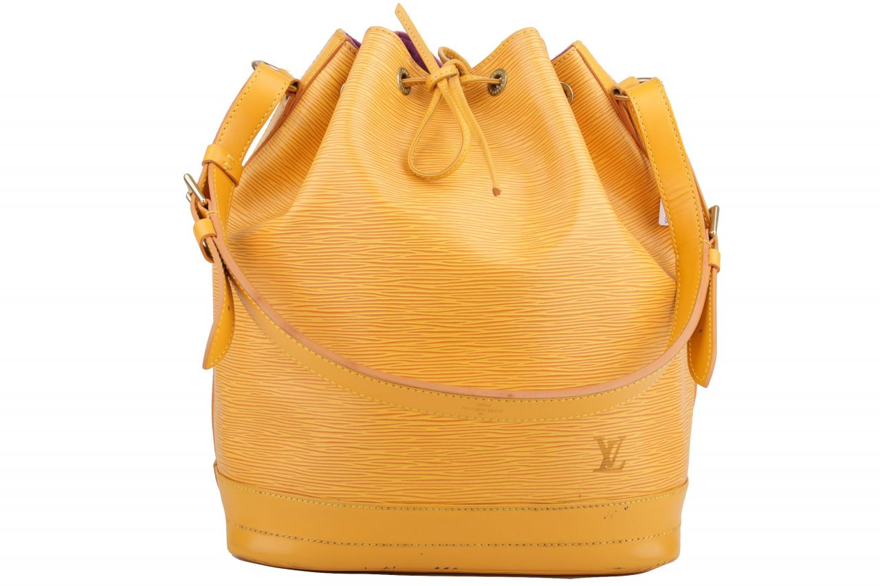 Louis Vuitton Sac Noé Grand Epi Leder Gelb