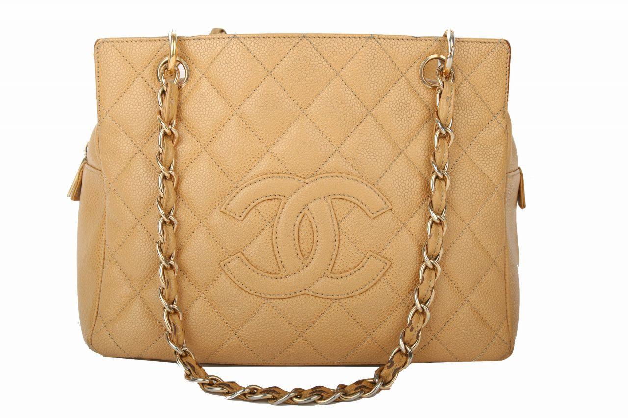 Chanel Mini Shopper Kaviar Leather Beige