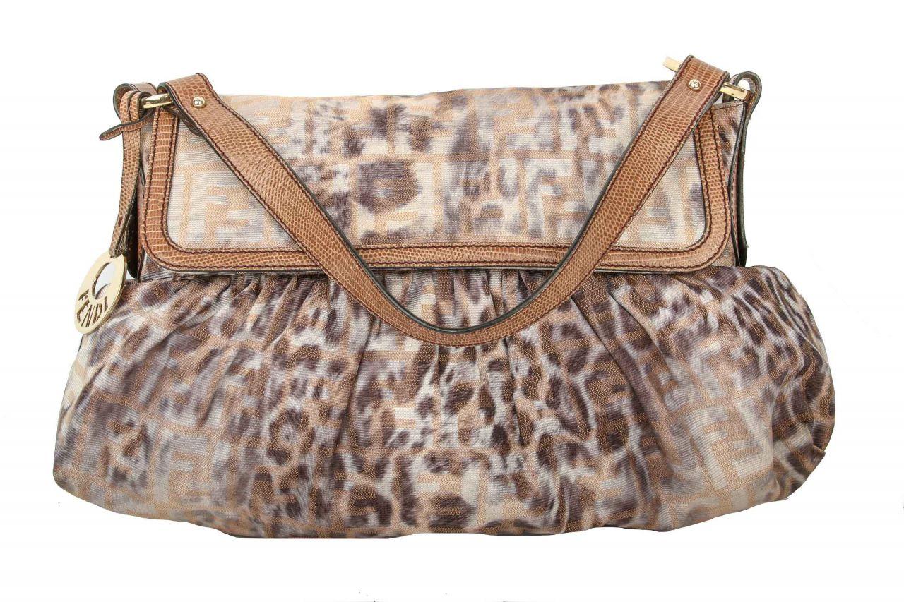 Fendi Tasche mit Leoparden Muster