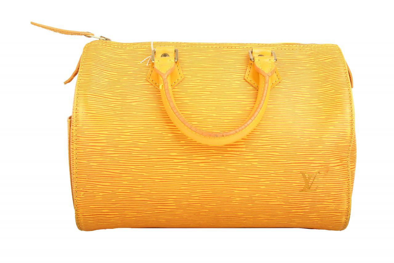 Louis Vuitton Speedy 30 Epi Leather Gelb