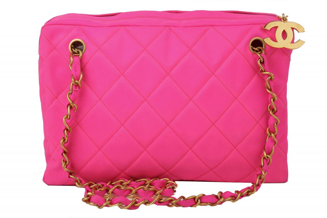 Chanel Nylon Bag Neon Pink