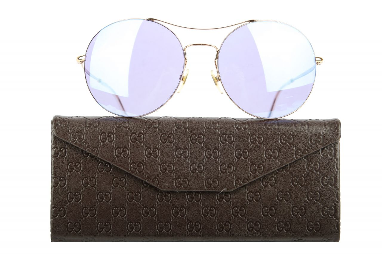 Gucci Sonnenbrille Blau/Gold