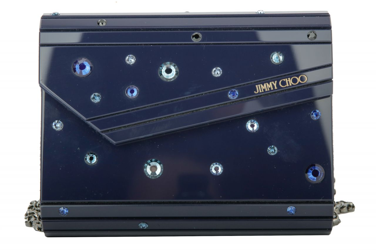 Jimmy Choo Candy Clutch Mya 164 Midnight Blue