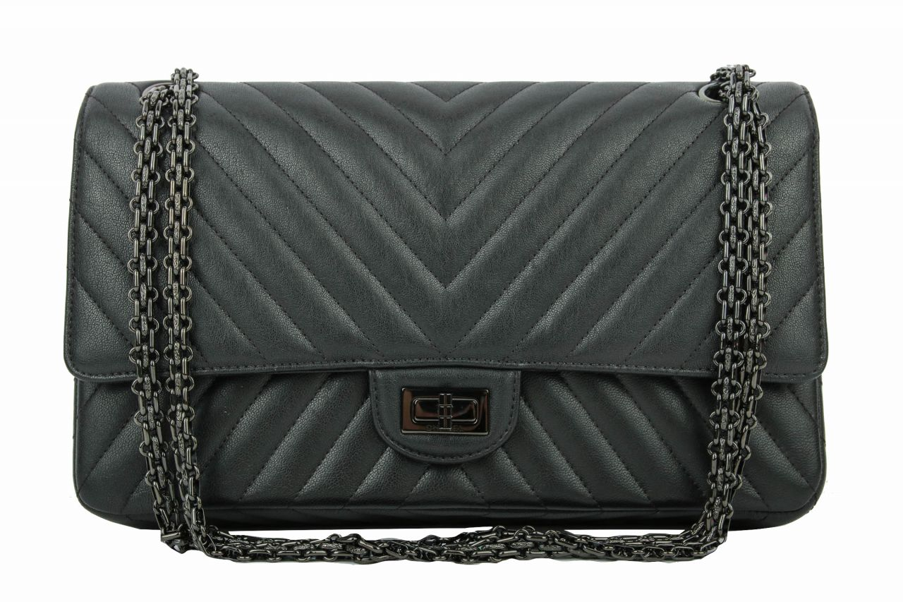 Chanel 2.55 Chevron ALL BLACK