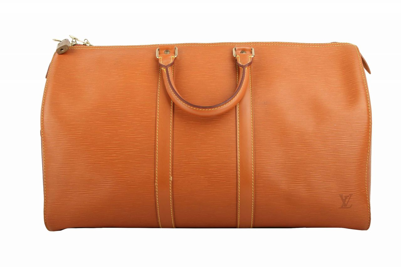 Louis Vuitton Keepall 45 Epi Leder Camel