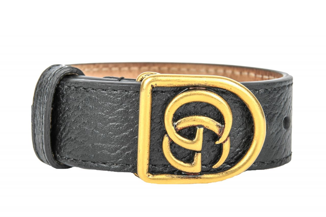 Gucci Armband mit Doppel G Schwarz