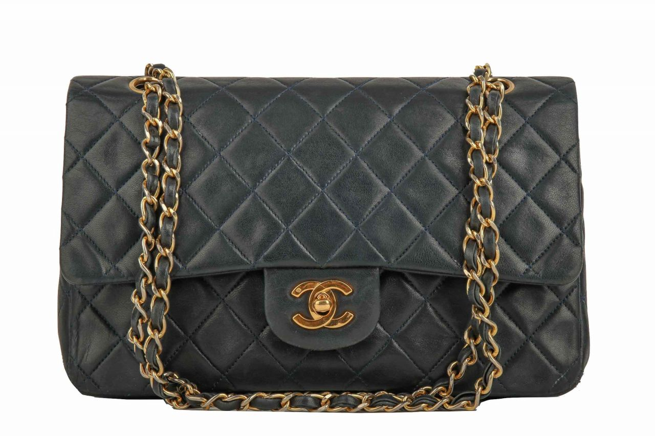 Chanel Timeless Double Flap Medium Blue