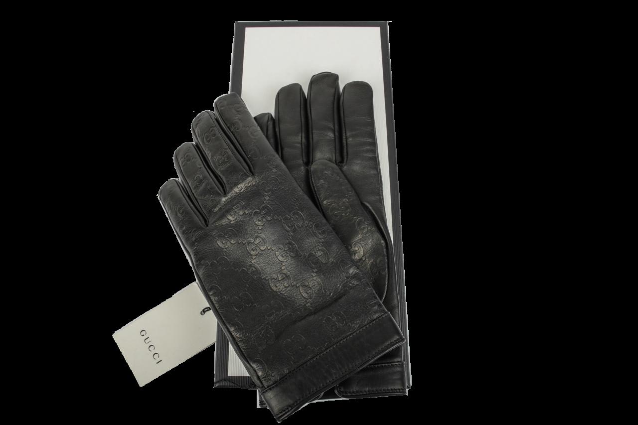 Gucci Handschuhe aus Guccissima Signature Leder