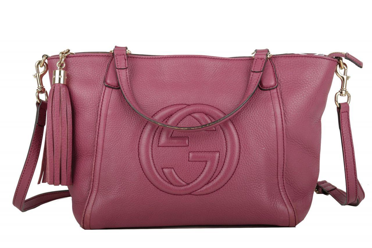 Gucci Soho Crossbody Bag Pflaume