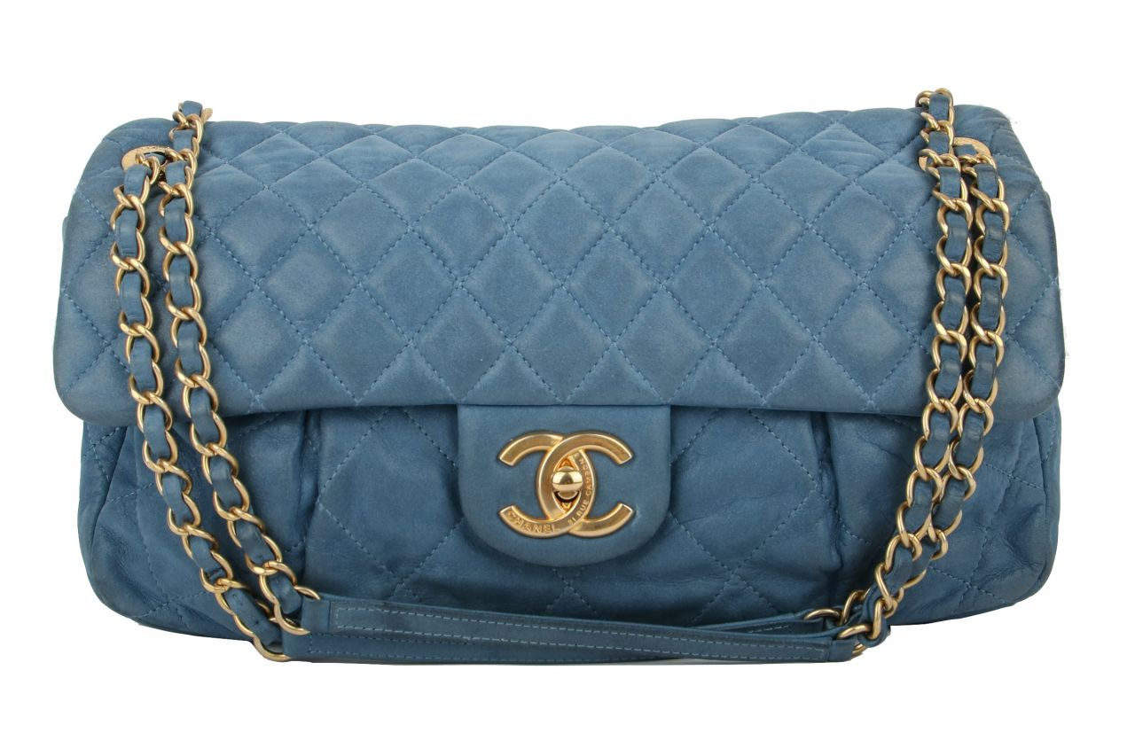 Chanel Easy Flap Bag Blue