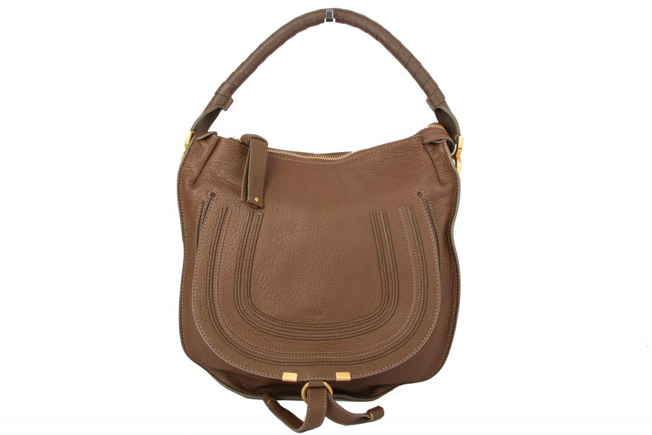 Chloé Marcie Hobo Bag Small Brown